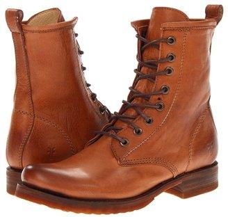 Frye - Veronica Combat Women's Lace-up Boots $278 thestylecure.com