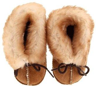 Minnetonka Kids Genuine Sheepskin Bootie (Infant/Toddler) (Golden Tan Sheepskin) Kids Shoes