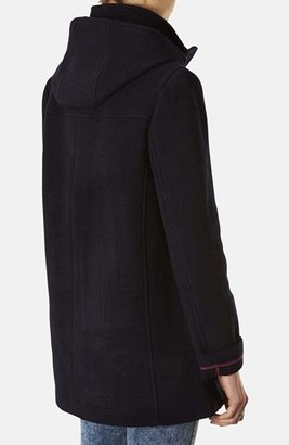 Topshop Hooded Toggle Duffle Coat