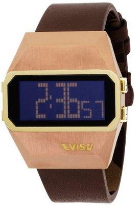 Evisu Men's EV-7001-04 Sadao Brown Ion-Plated Stainless Steel Digital Fashion Watch