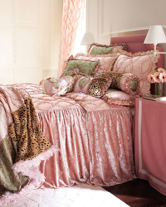 Sweet & Sassy European Sham with Embroidered Roses & Fringe