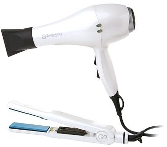 FHI Heat GO Limited Edition Ceramic Tourmaline Dryer and Styling Iron Combo White