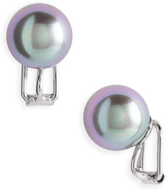 Majorica 12mm Round Pearl Clip Earrings