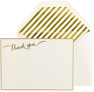 J.Crew Sugar Paper® letterpress thank-you note set
