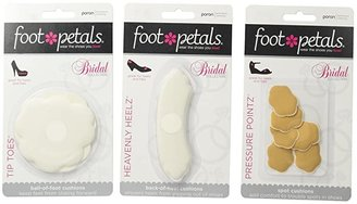 Foot Petals Wedding Day Collection - Tip Toes, Heavenly Heelz, Pressure Points (Assorted) Women's Insoles Accessories Shoes