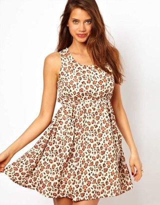 Rare Stud Pocket Dress In Leopard Print