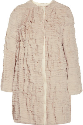 3.1 Phillip Lim Silk-crepe ruffle coat