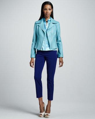 Elie Tahari Mia Leather Jacket