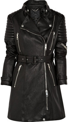 Burberry Quilted leather motocross coat