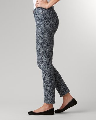 Coldwater Creek Indigo jacquard slim-leg jeans