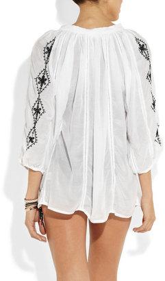 Melissa Odabash Alaia embroidered voile tunic