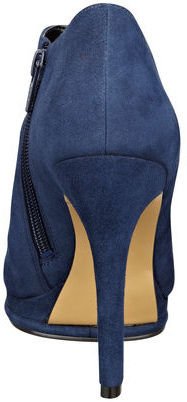 Nine West Sybryl Suede Peep-Toe Booties