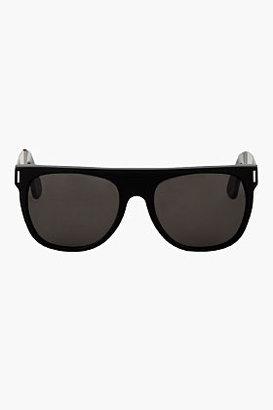 Super Black Flat Top Francis Sunglasses