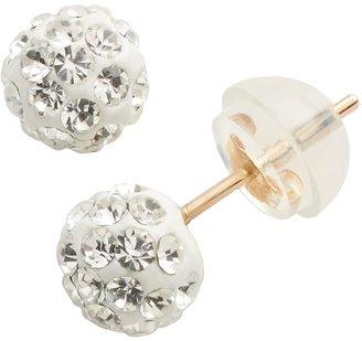 Junior Jewels 10k Gold Crystal Ball Stud Earrings - Kids