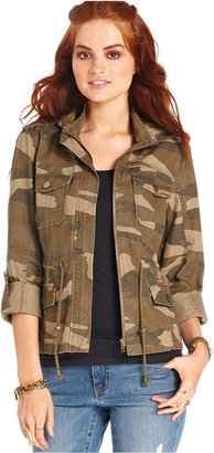 American Rag Juniors Jacket, Long Sleeve Camouflage-Print