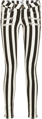 Paige Edgemont striped low-rise skinny jeans