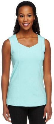 Denim & Co. Essentials Knit Tank Top with Seaming Detail