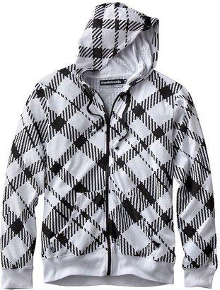 Hoodiebuddie zigzag checkered hoodie
