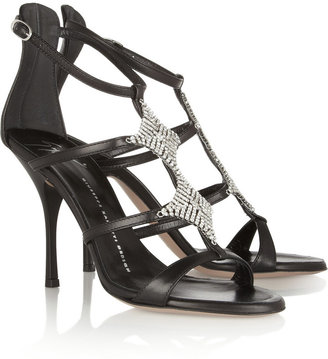 Giuseppe Zanotti Diamanté-embellished leather sandals