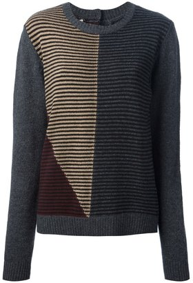 Marni striped button fastening sweater