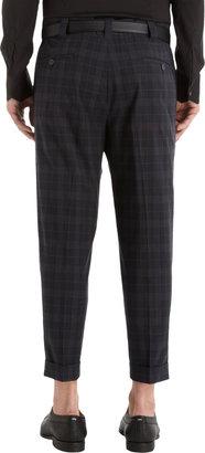 Dolce & Gabbana Plaid Cropped Trouser