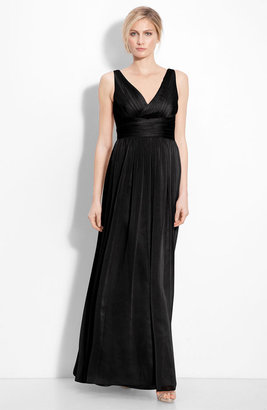 Monique Lhuillier Bridesmaids Sleeveless Ruched Chiffon Dress (Nordstrom Exclusive)