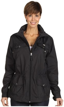 Larry Levine Packable Hooded Anorak (Black) - Apparel