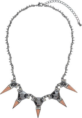 Topshop Textured Spike Necklace