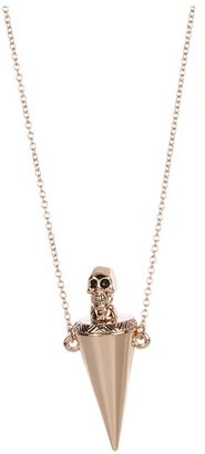 House Of Harlow Skull Vial Necklace (Rose Gold Plated) - Jewelry