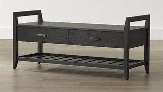 Crate & Barrel Boardwalk Grey Bench