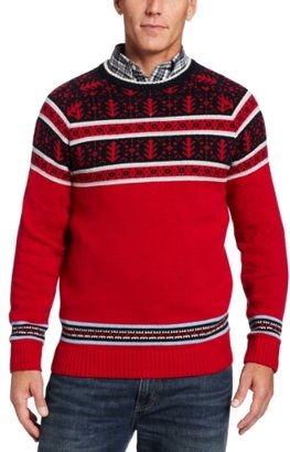 Nautica Men's Fair Isle Crewneck Sweater