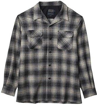Pendleton L/S Board Shirt (Grey/Black/Tan) Men's Long Sleeve Button Up