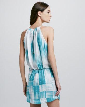 Ali Ro Bar-Print Halter Dress