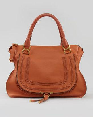 Chloé Marcie Large Shoulder Bag, Rust