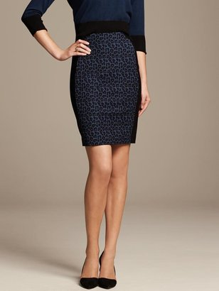 Roland Mouret Collection Leopard Panel Pencil Skirt