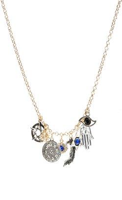 Asos Talisman Charm Long Necklace - Multi