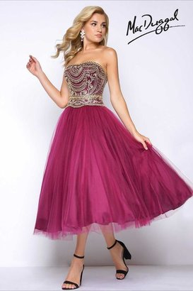 Mac Duggal Prom - 66022 Bustier Dress In Burgundy