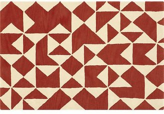 Crate & Barrel Kipp Persimmon 4x6 Rug
