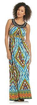 NY Collection Studded Maxi Dress