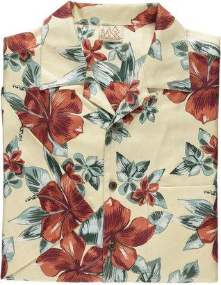 Jos. A. Bank VIP Silk Print Short-Sleeve Sportshirt