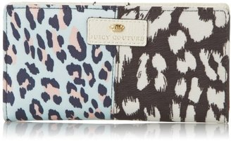 Juicy Couture Rosewood Power Clashing Collection Continental Wallet