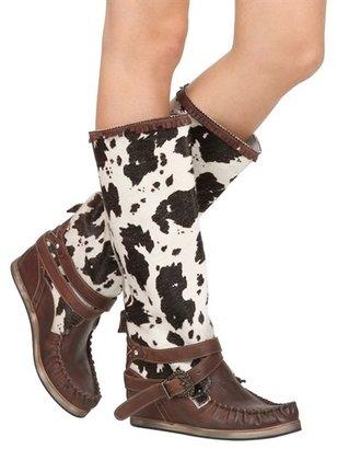 EL VAQUERO 90mm Calfskin & Ponyskin Boots