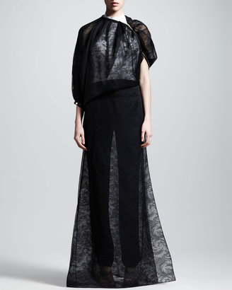 Givenchy Sheer Lace Gown