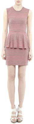 Nicole Miller Cayley Striped Jersey Dress