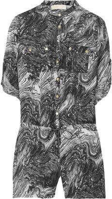MICHAEL Michael Kors Printed silk-voile playsuit