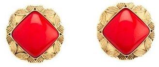 Charlotte Russe Square Stone Stud Earrings