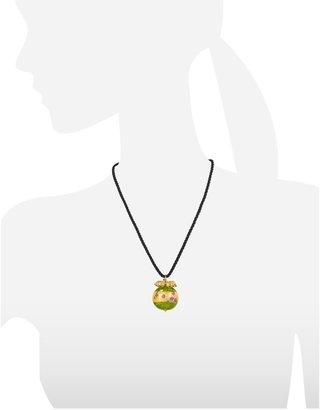 Murano Briciole d'Oro Sterling Silver Glass Pendant w/ Lace