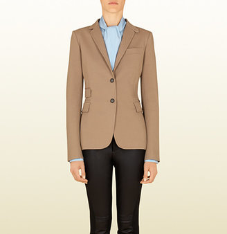 Gucci Beige Cotton Riding Jacket From Equestrian Collection