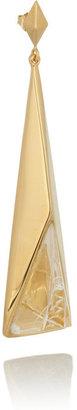 Chloé Bettina gold-tone resin earrings