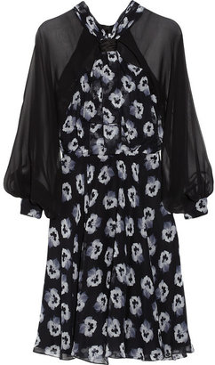 Prabal Gurung Floral-print silk-chiffon dress